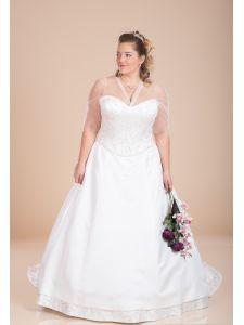 1f59479789 Eternity organza és tafft molett menyasszonyi ruha, abroncos pánt ...